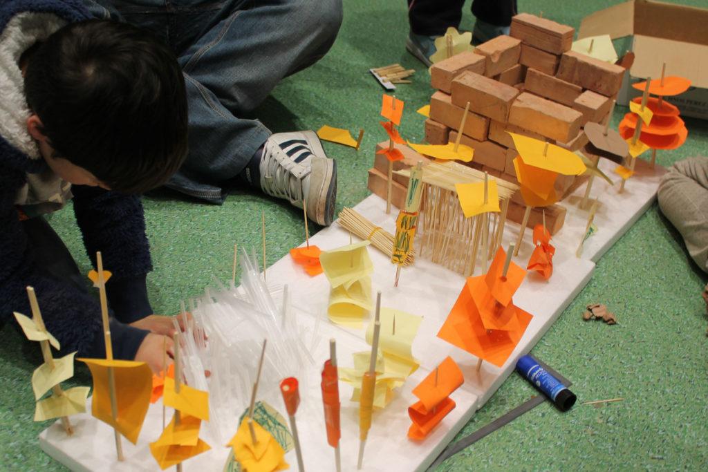 AJO arquitectos arquitectura juego ladrillo
