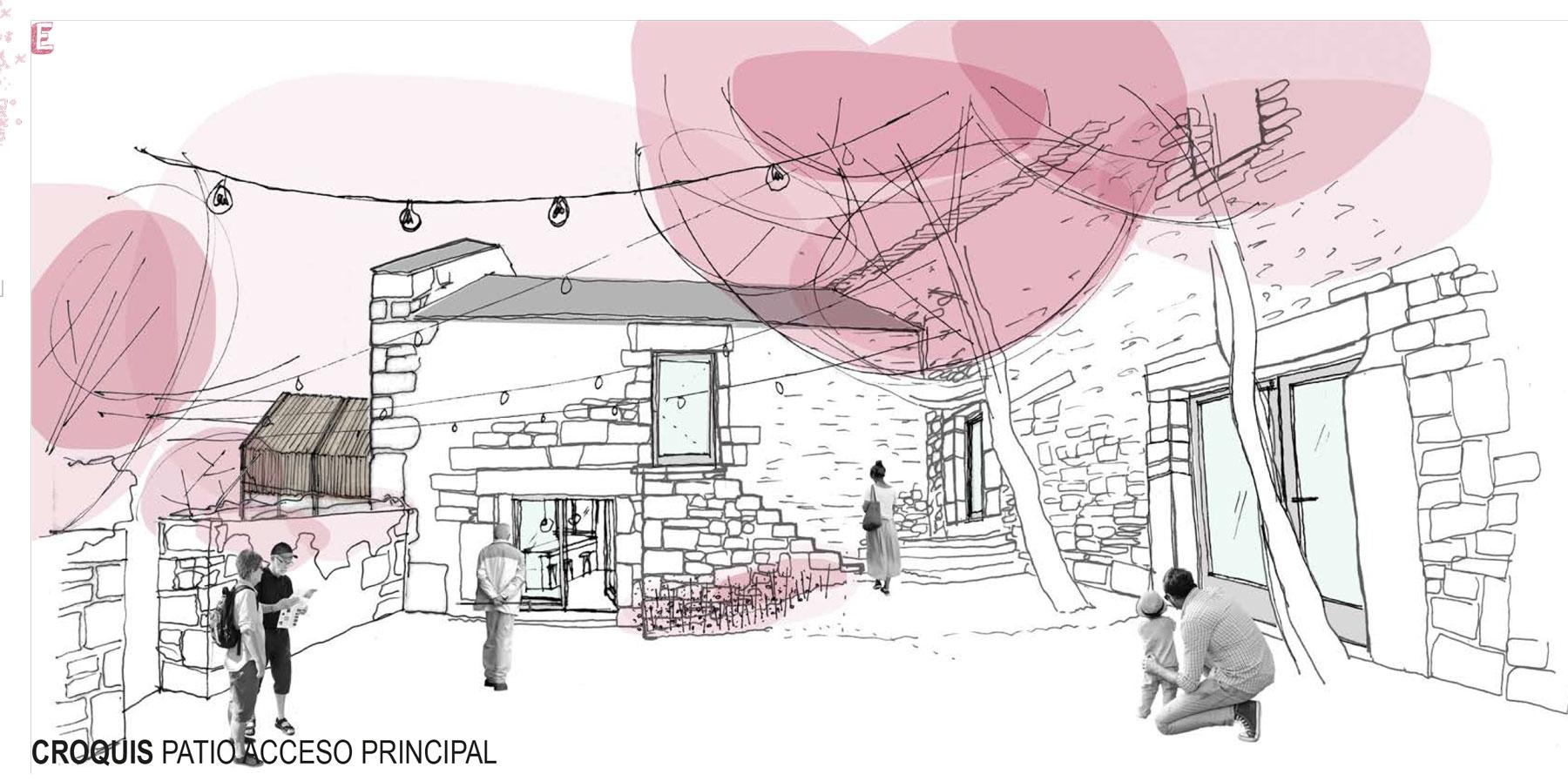 AJO arquitectos concurso padornelo acceso interior