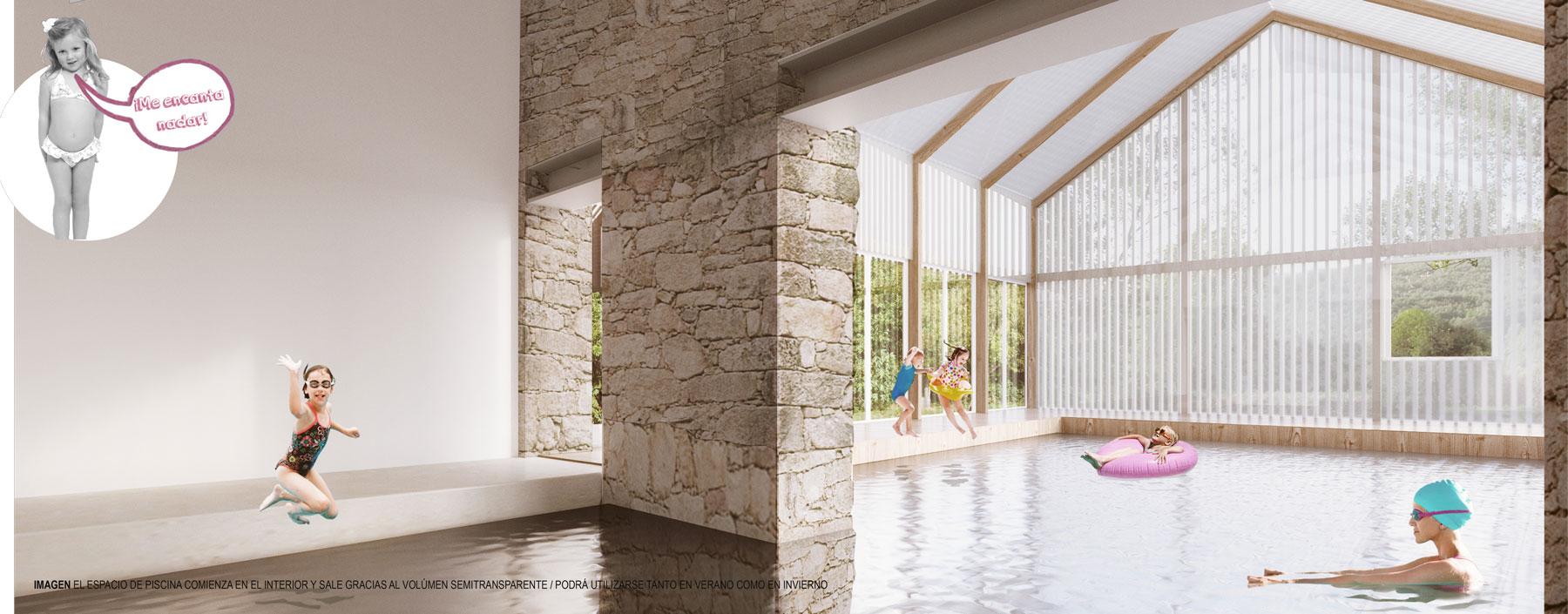 AJO arquitectos concurso padornelo piscina