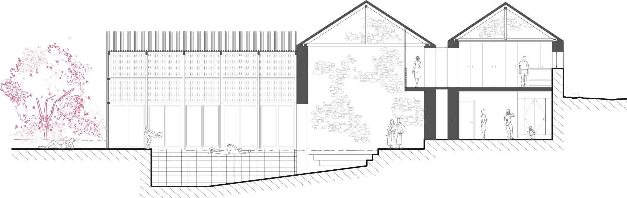 AJO arquitectos concurso padornelo seccion transversal