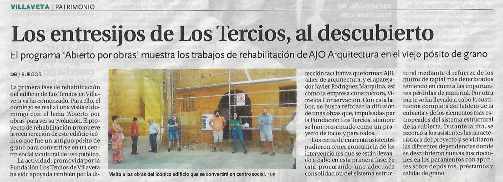 AJO arquitectos - Restauración - Abierto por Obras en Los Tercios de Villaveta