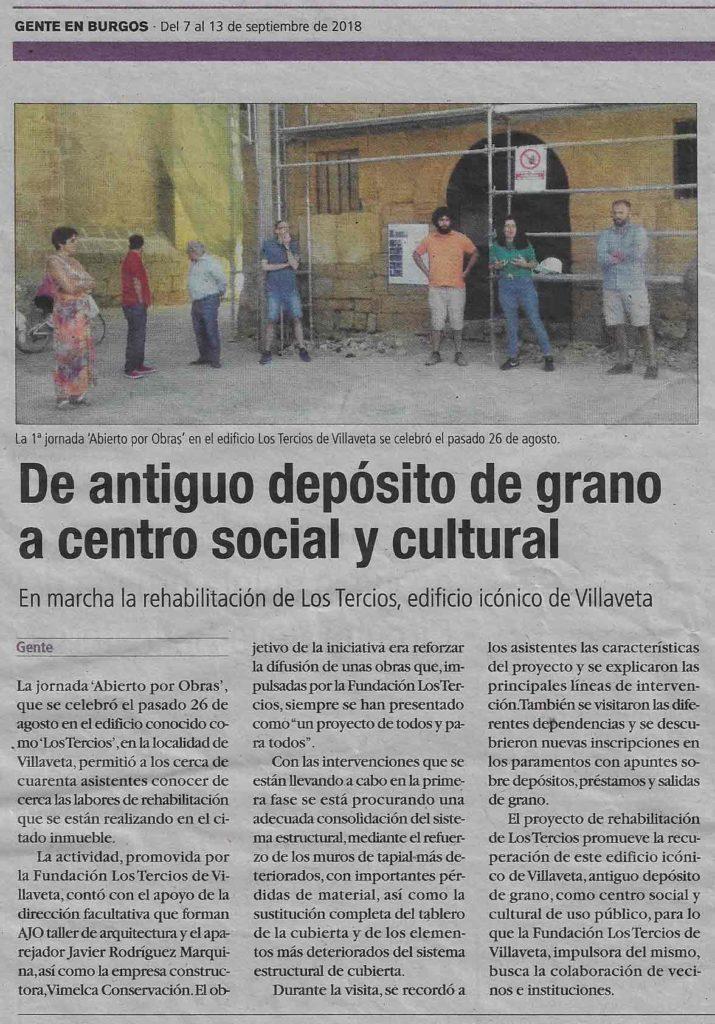 AJO arquitectos Abierto por Obras en Los Tercios de Villaveta